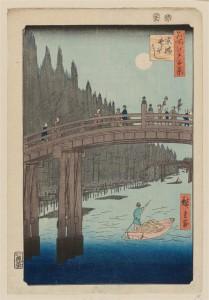 Bamboo Yards, Kyobashi Brdige, 100 Famous Views of Edo