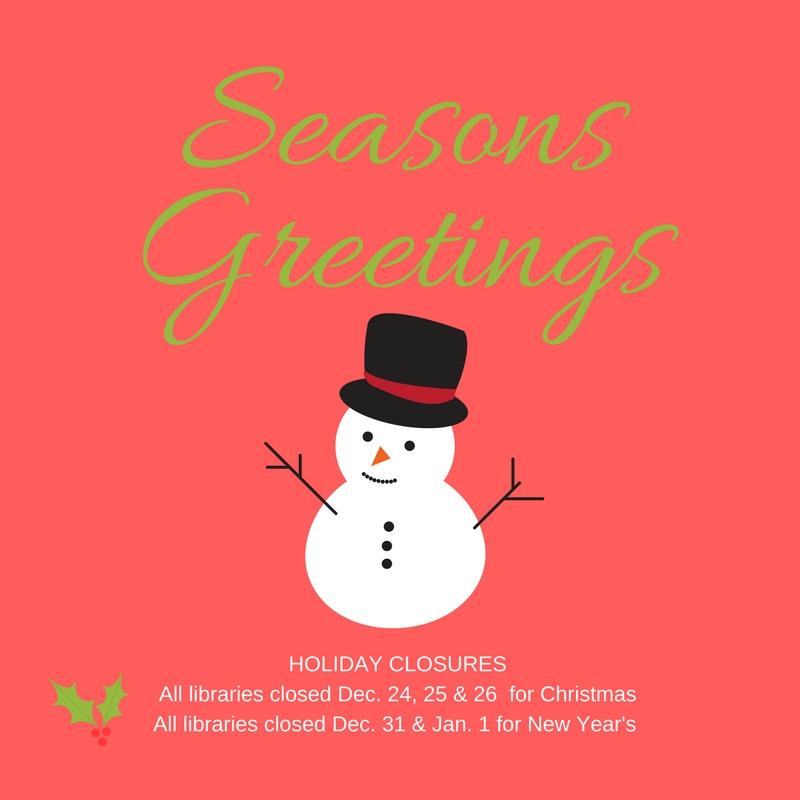 Walnut Creek Library Foundation - Seasons Greetings